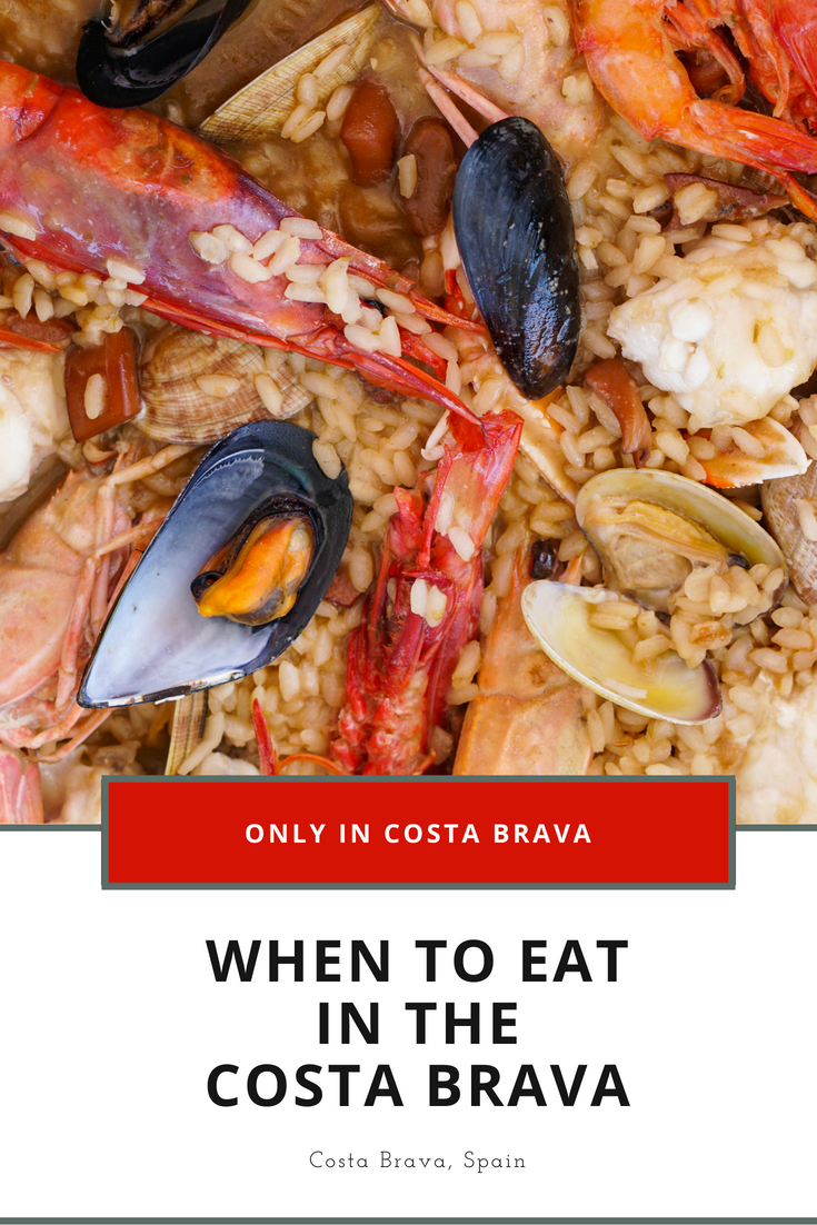 When to eat in the Costa Brava